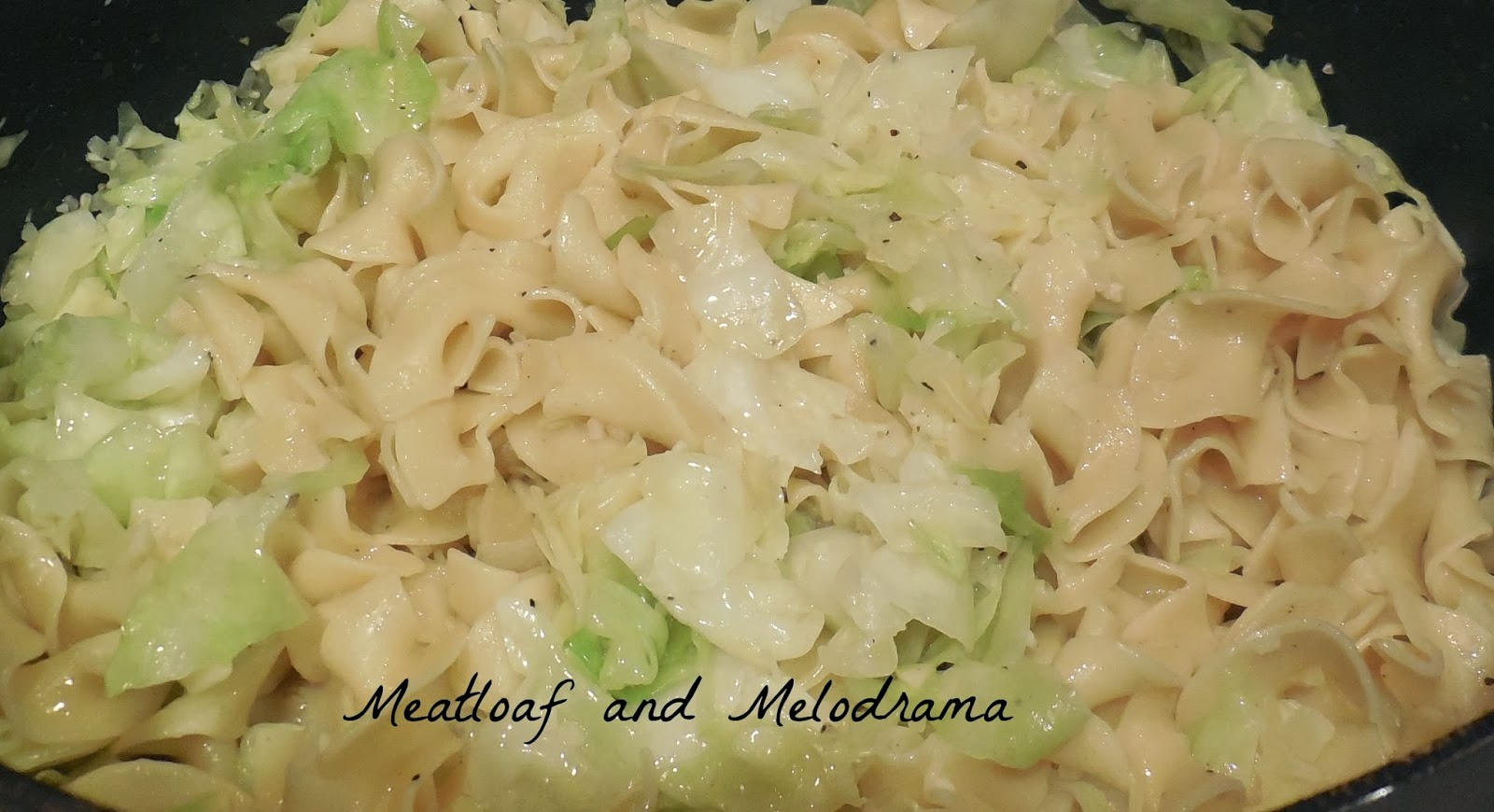 haluski, noodles and cabbage