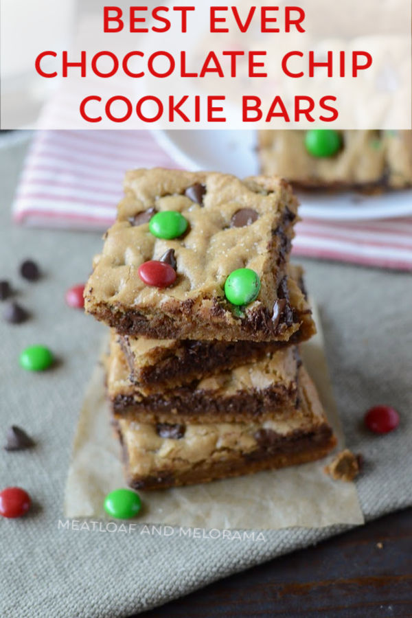 christmas cookie bars stacked up