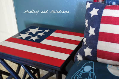 flag table, painting table top