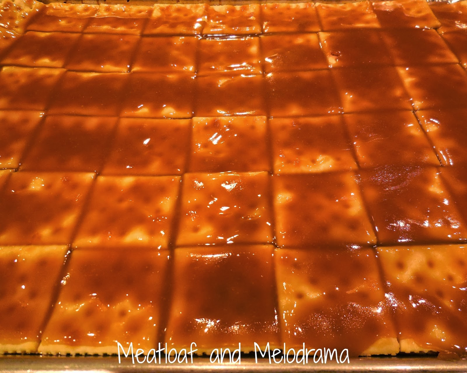 caramel on crackers, saltine toffee