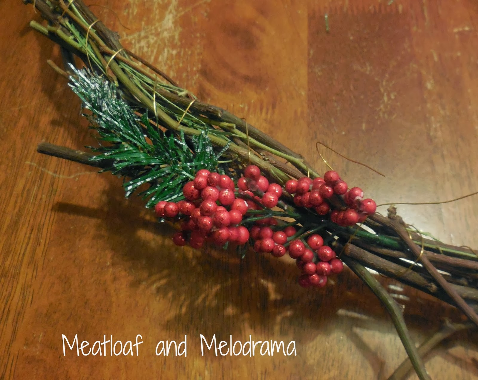 Rustic Christmas Wreath Diy.Diy Rustic Christmas Wreath Meatloaf And Melodrama