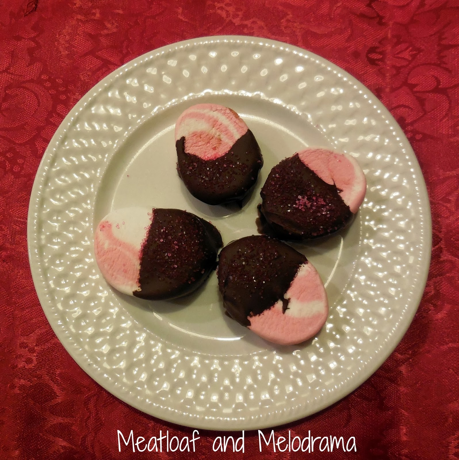 chocolate covered peppermint marshmallows