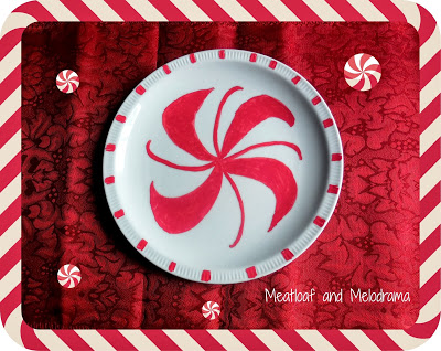 peppermint candy painted plates paint pens