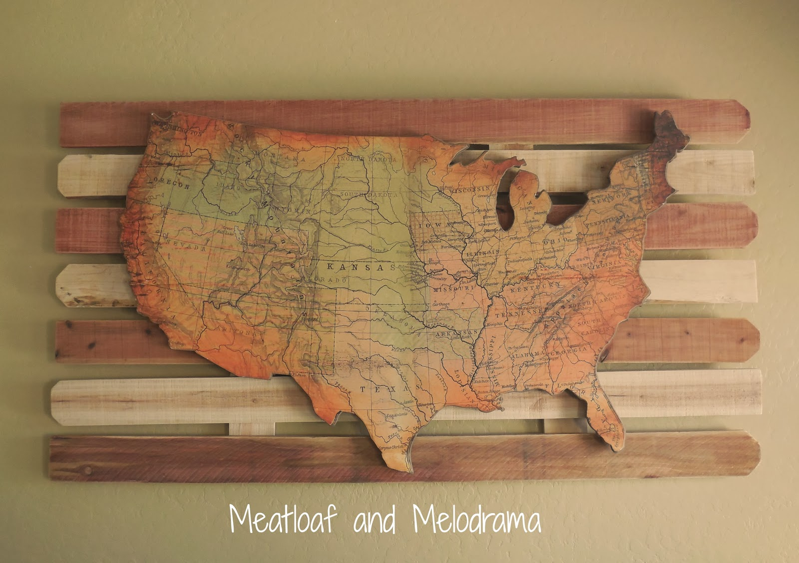 Wooden Wall Art rustic wooden wall art - meatloaf and melodrama