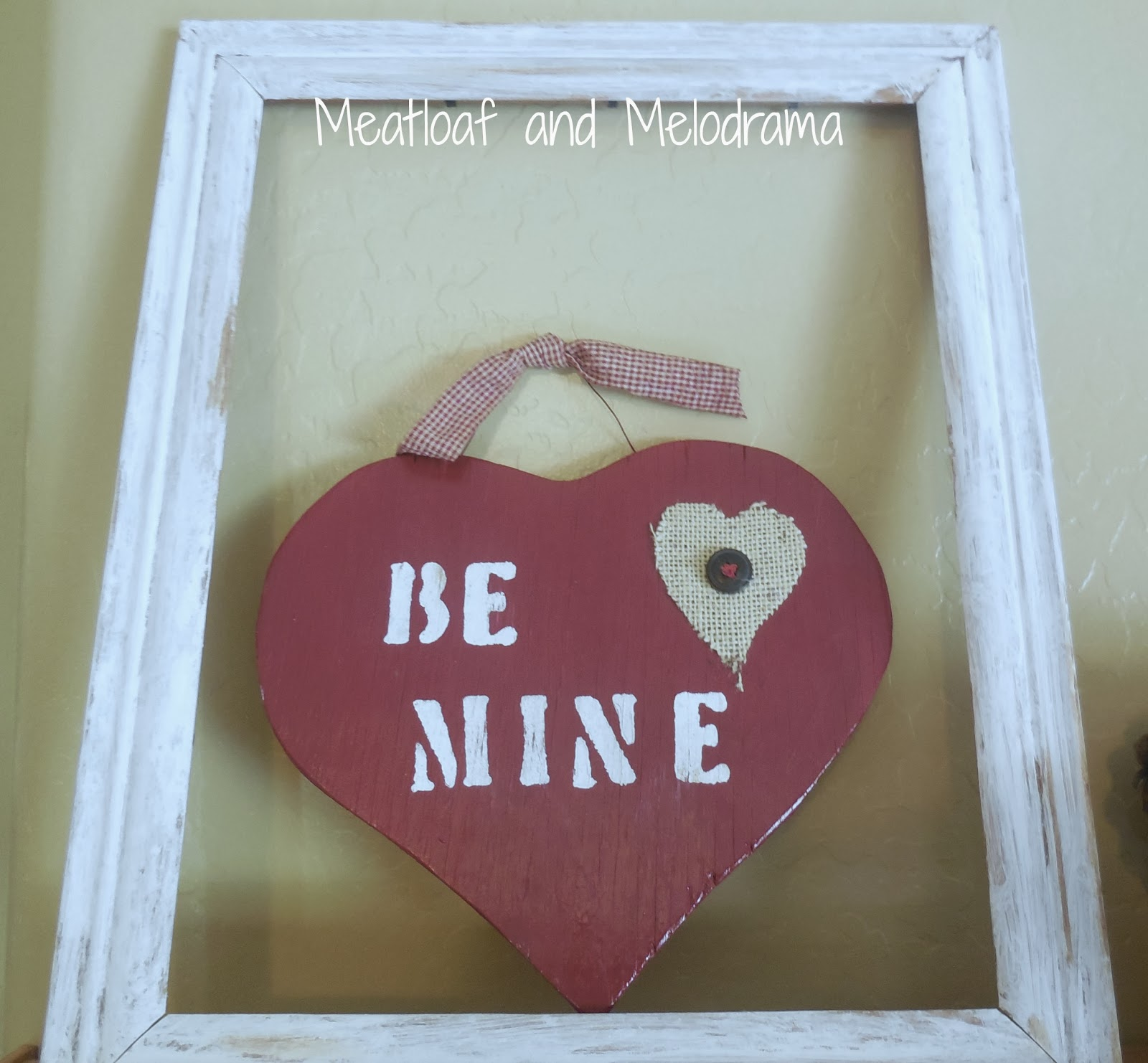 Rustic Valentine's Day Mantel, wooden heart
