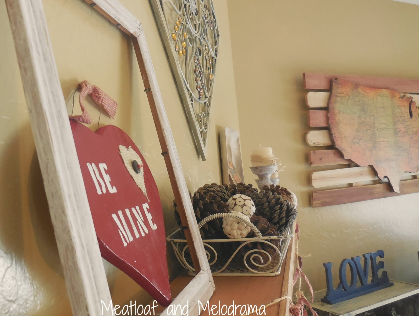 Rustic Valentine S Day Mantel Meatloaf And Melodrama