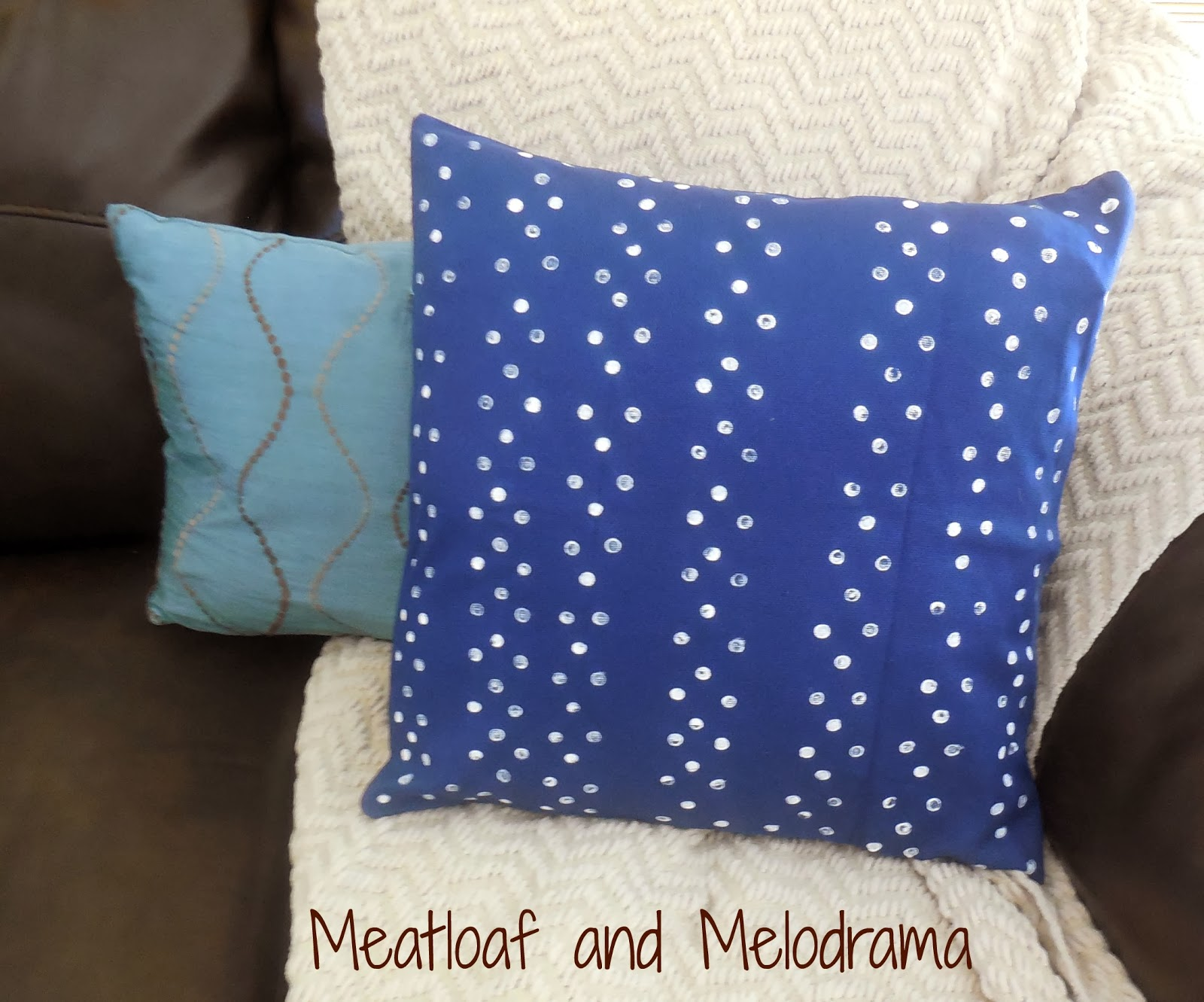 DIY Polka Dot Pillow Cover Meatloaf and Melodrama