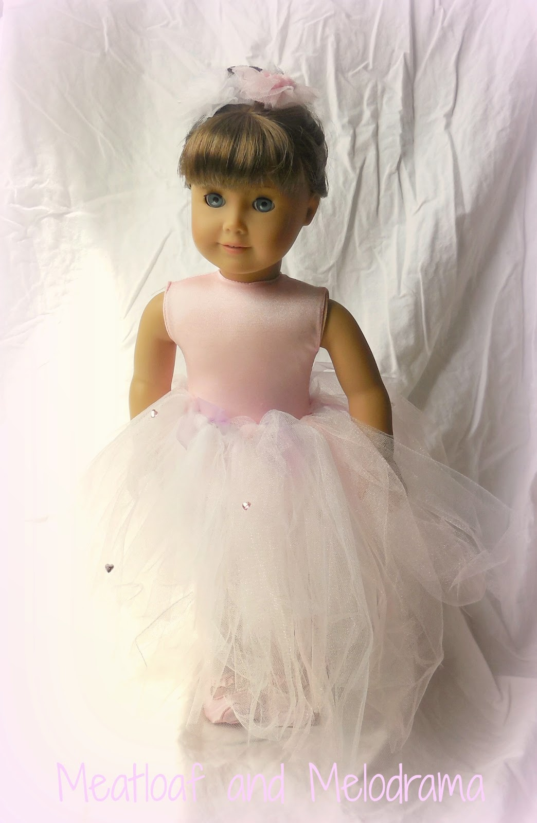 ag doll with no sew pink tutu and flowers
