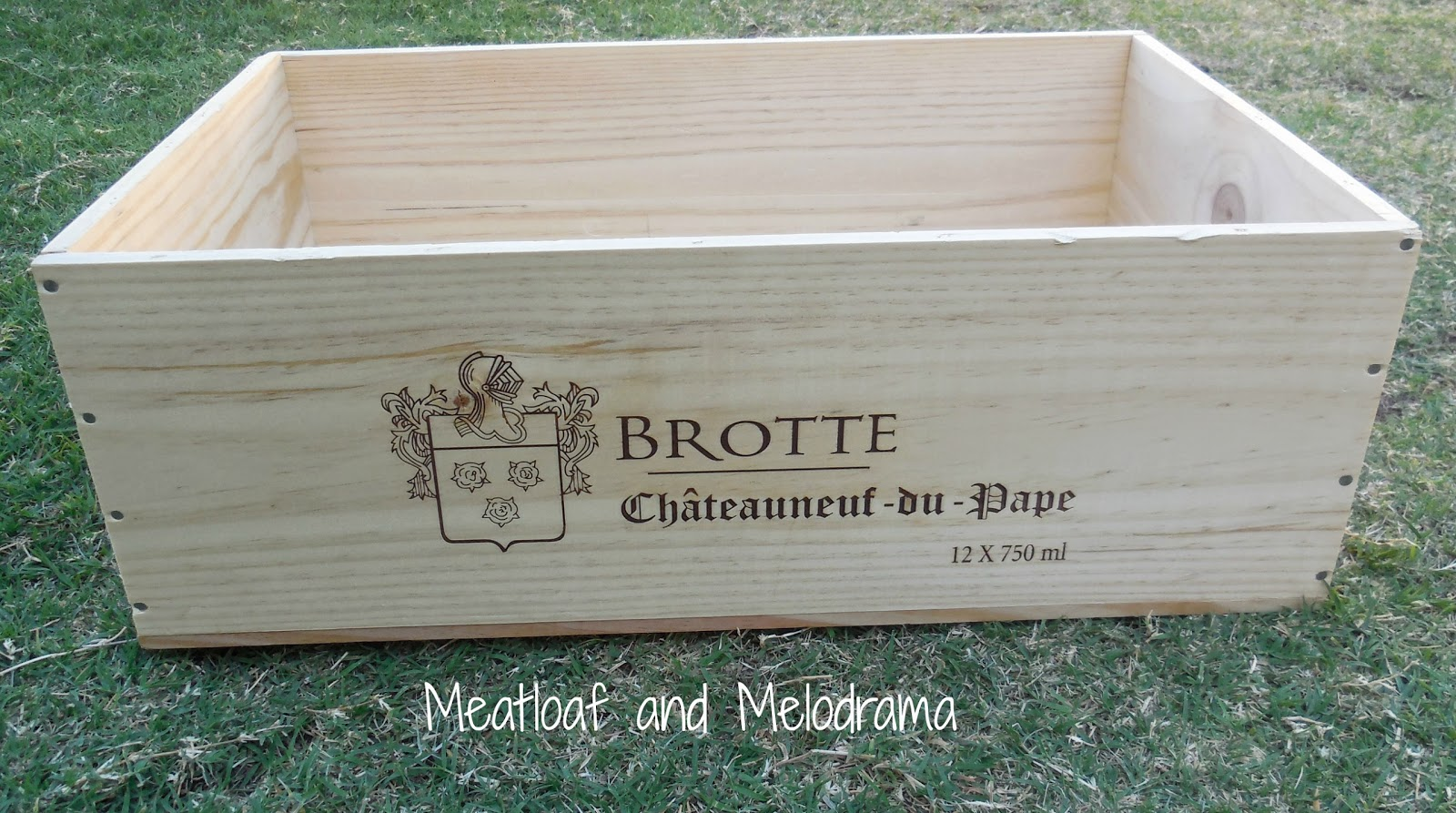painted wine crates meatloaf and melodrama