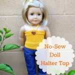No-Sew American Girl Doll Halter Top