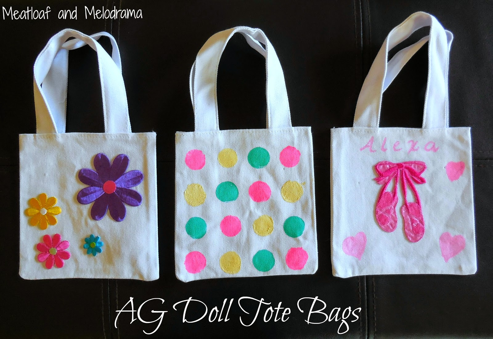 decorated tote bags for american girl dolls & American Girl Doll Tote Bags - Meatloaf and Melodrama