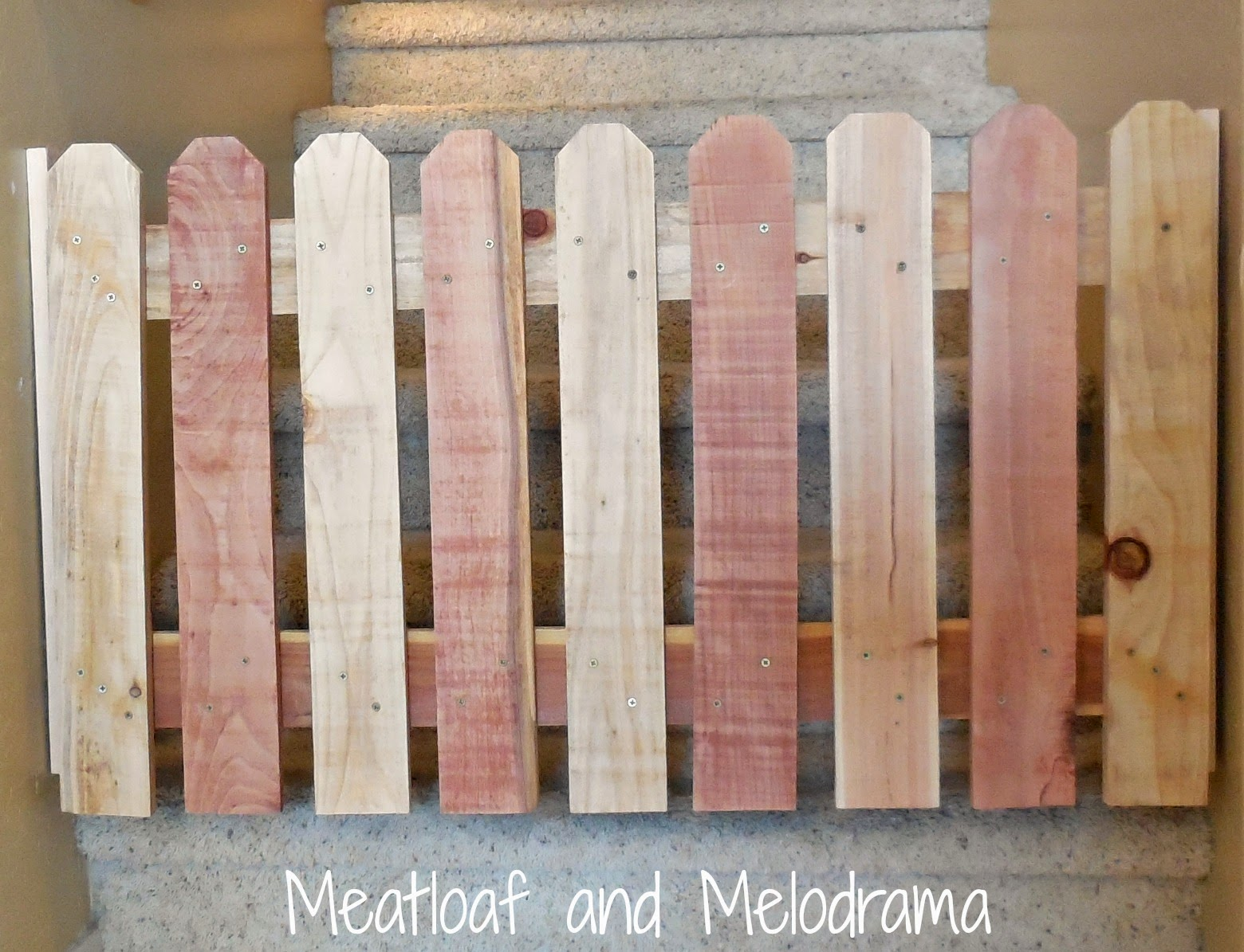 diy wooden pet gate on stairs