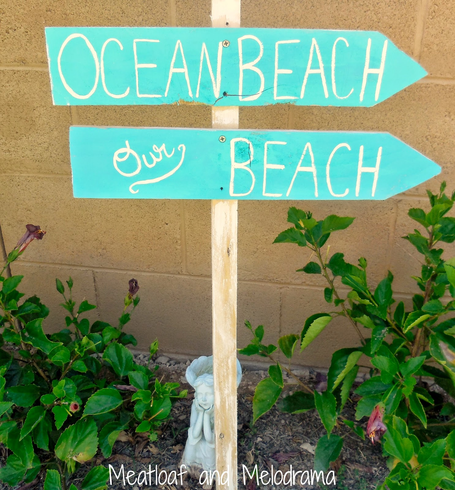 ocean beach and our beach signs