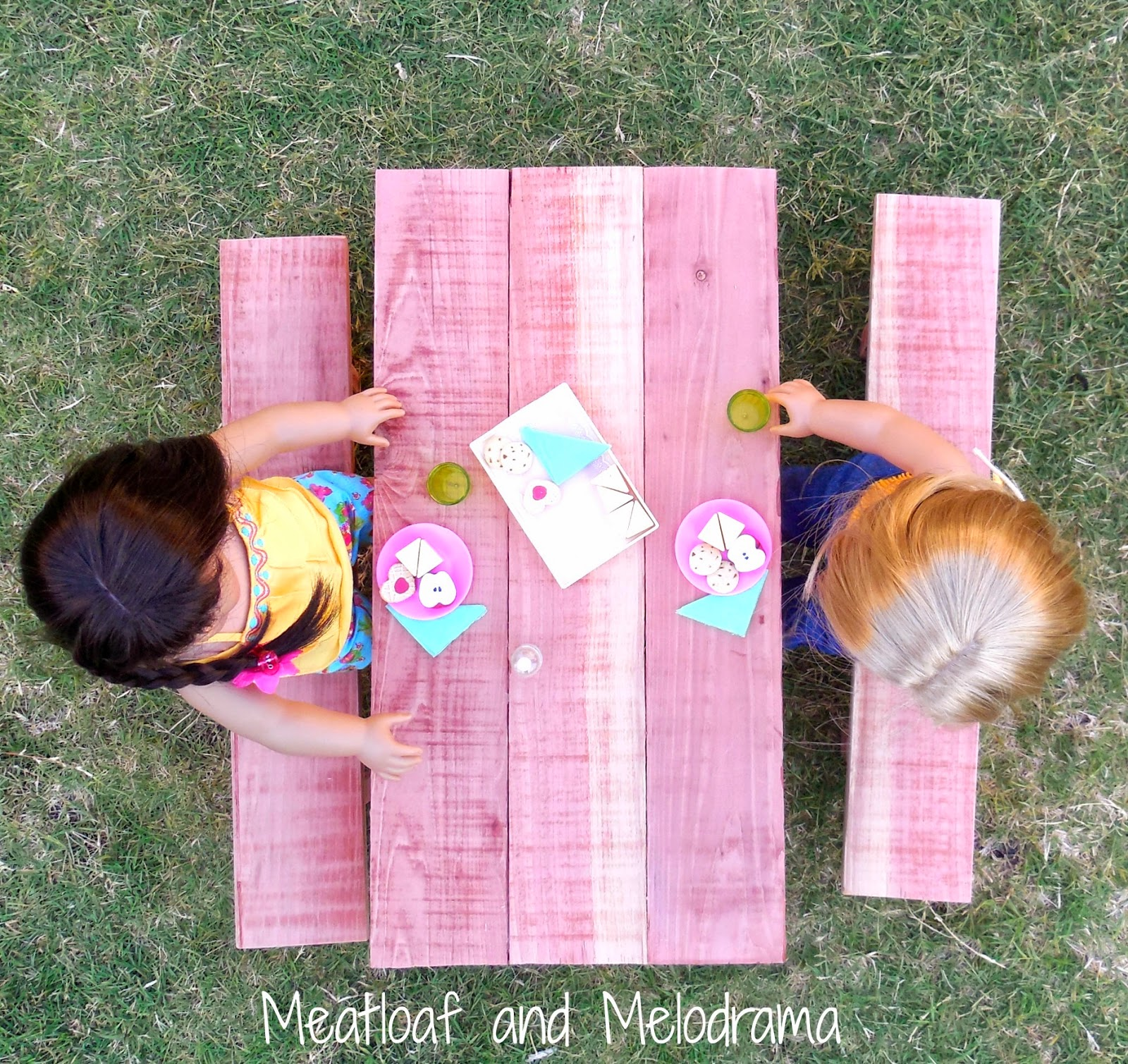 Diy American Girl Doll Picnic Table Meatloaf And Melodrama