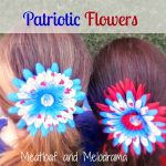 Patriotic Flower Clips