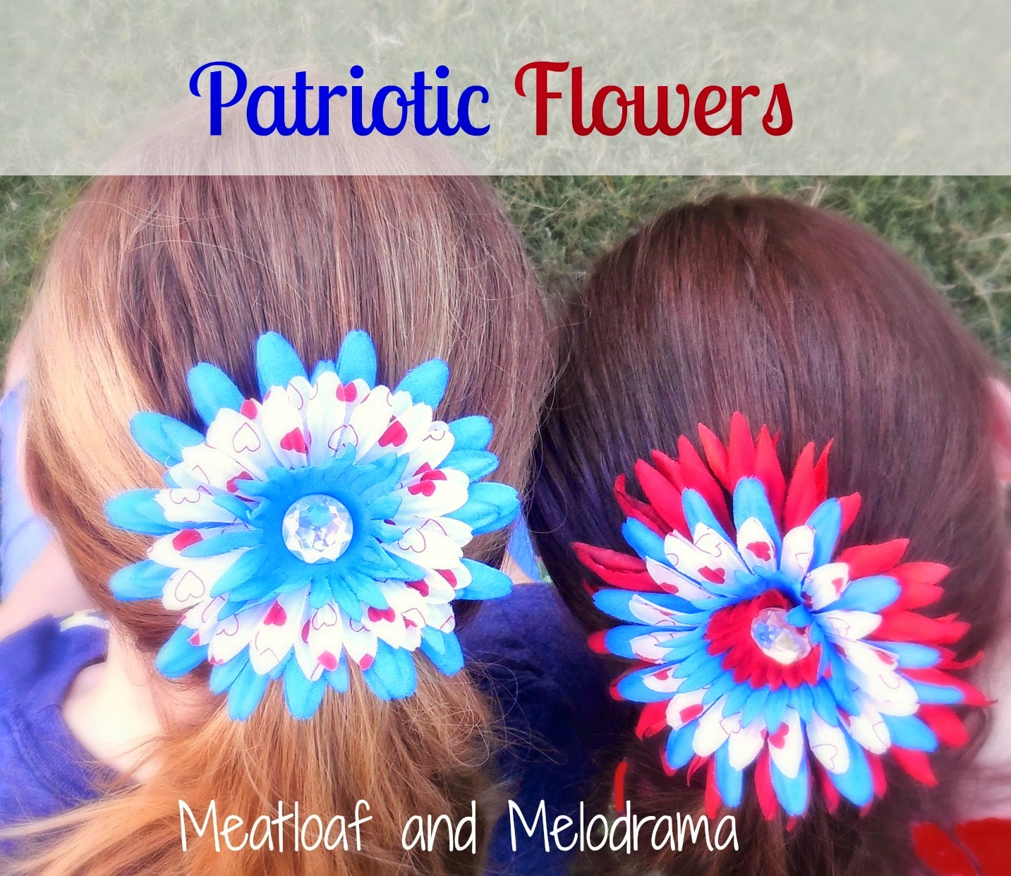 Patriotic Flower Clips Meatloaf And Melodrama
