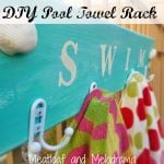 DIY Pool Towel Holder