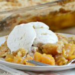 easy-peach-dump-cake-ice-cream
