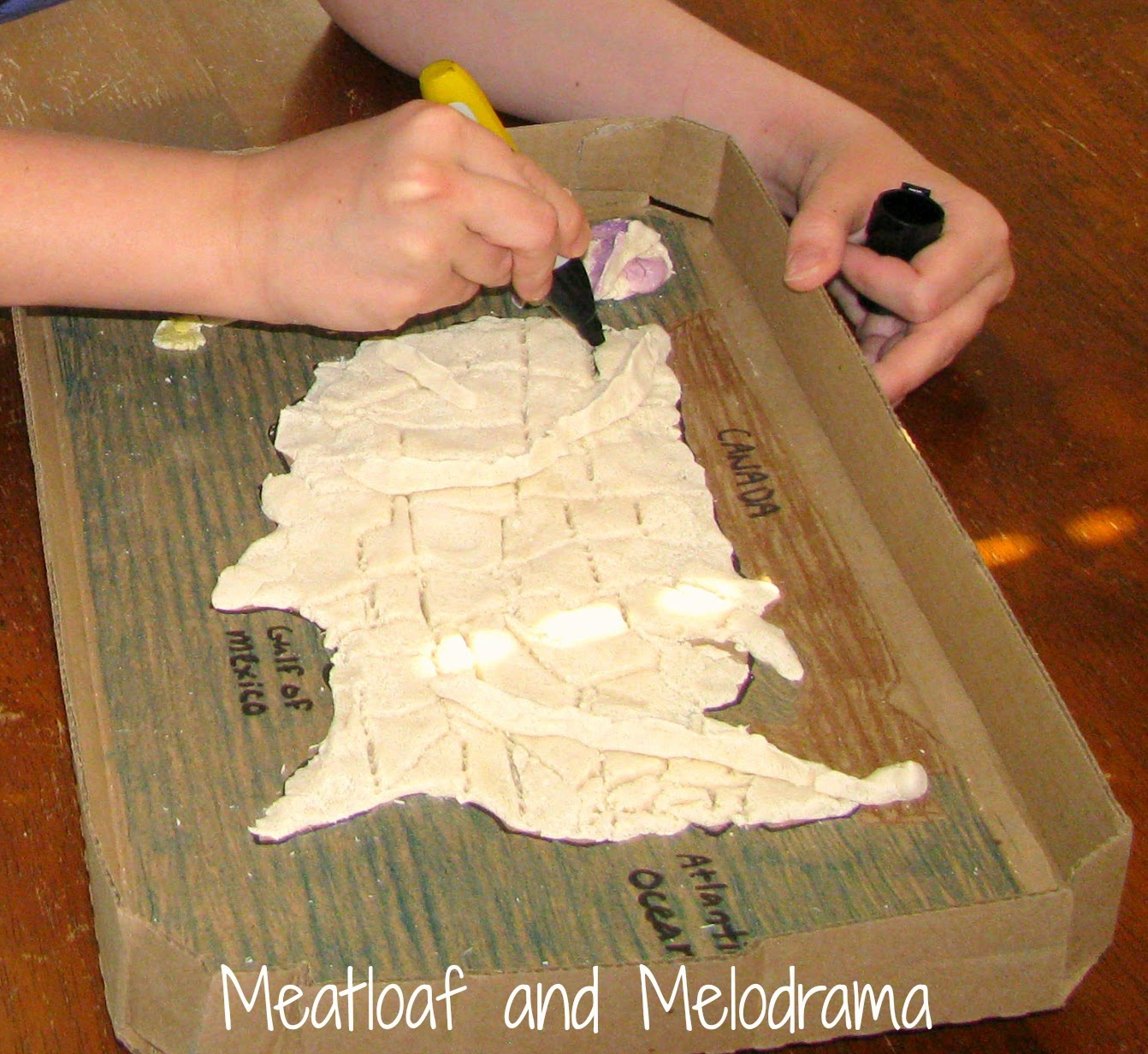 Salt Dough Maps Meatloaf And Melodrama - Draw on us map