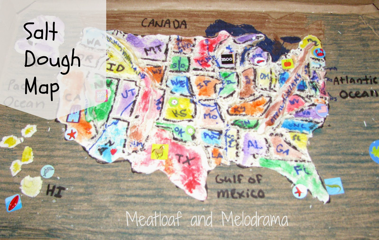 Salt Dough Maps - Meatloaf and Melodrama