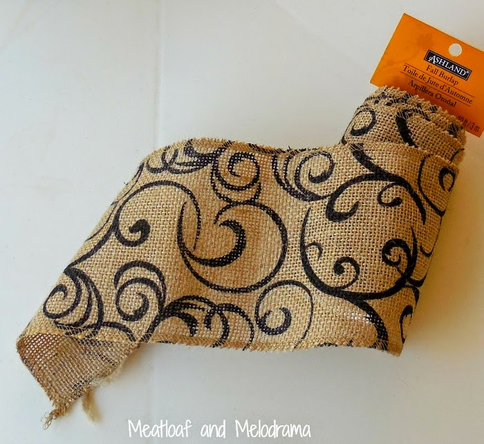 printed fall burlap ribbon from Ashland