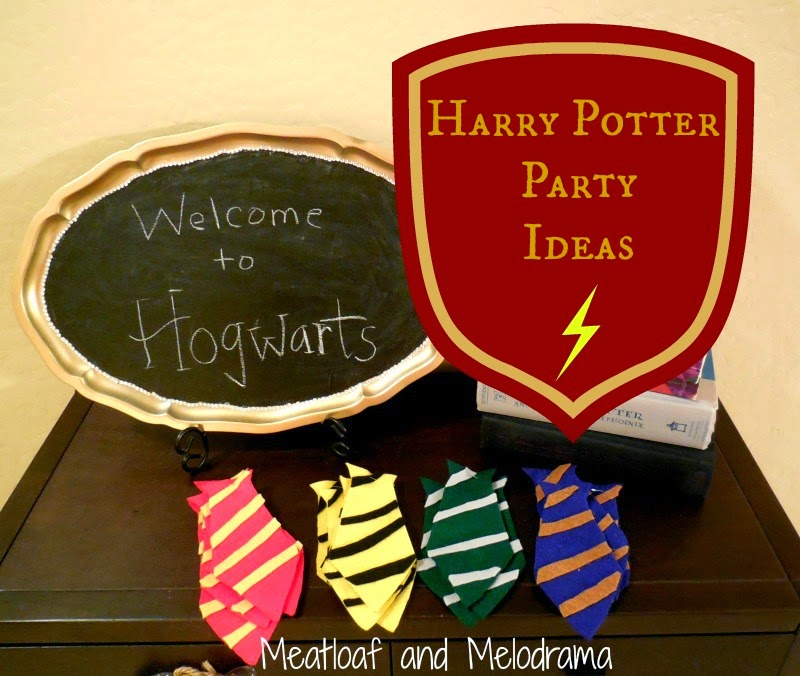 harry potter party ideas crafts diy harry potter meatloaf and melodrama 6695