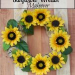 Sunflower Wreath Makeover