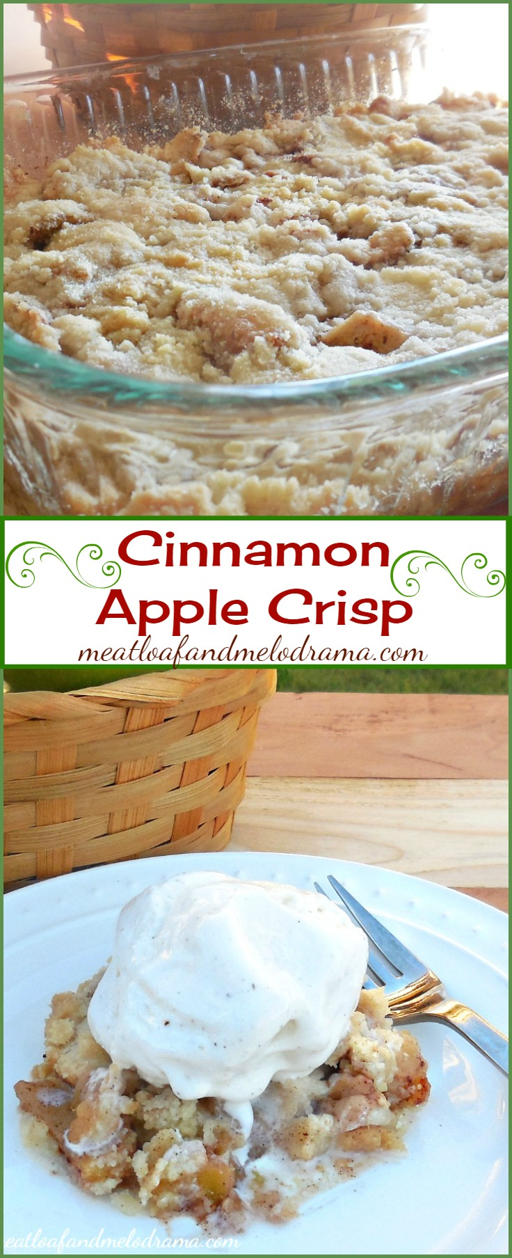 We had this tasty cinnamon apple crisp for dessert last night, and ...