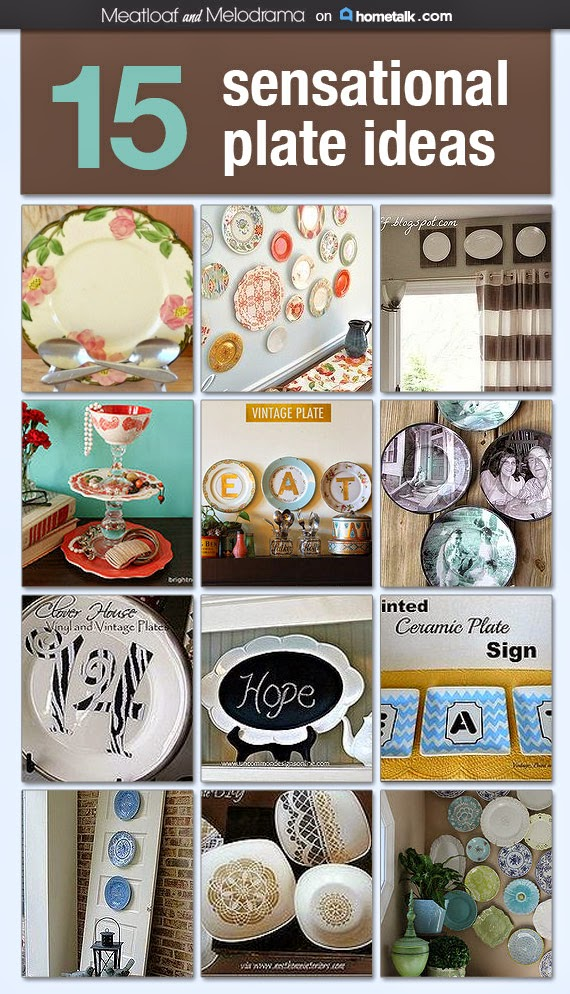 Creative Ways to Decorate with Plates - Meatloaf and Melodrama