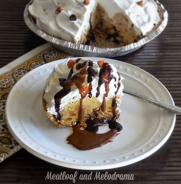 no bake pumpkin pecan ice cream pie on a plate