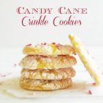 Candy Cane Crinkle Cookies