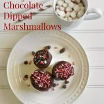 Fancy Chocolate Dipped Marshmallows