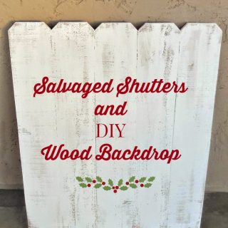 Salvaged Shutters and DIY Wood Backdrop