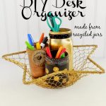 DIY Mason Jar Desk Organizer Craft