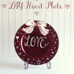 Make a DIY Heart Plate for Valentine's Day