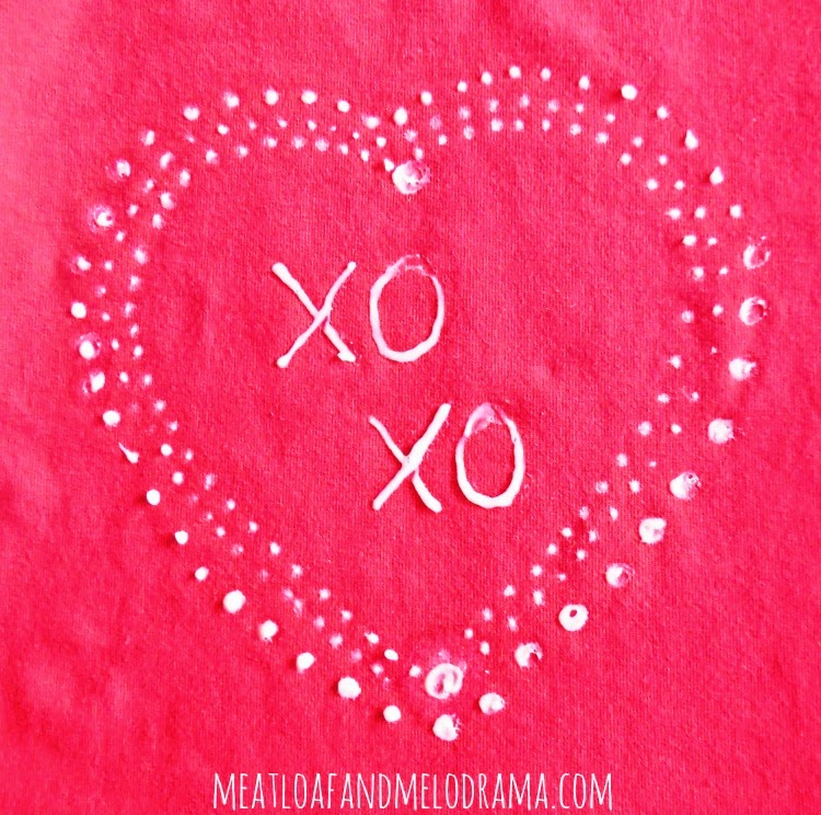 How to Make a DIY Valentine's Day Heart Shirt with a Bleach