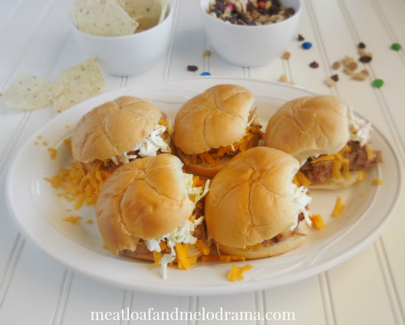 barbecue pork sliders for game day or family dinner