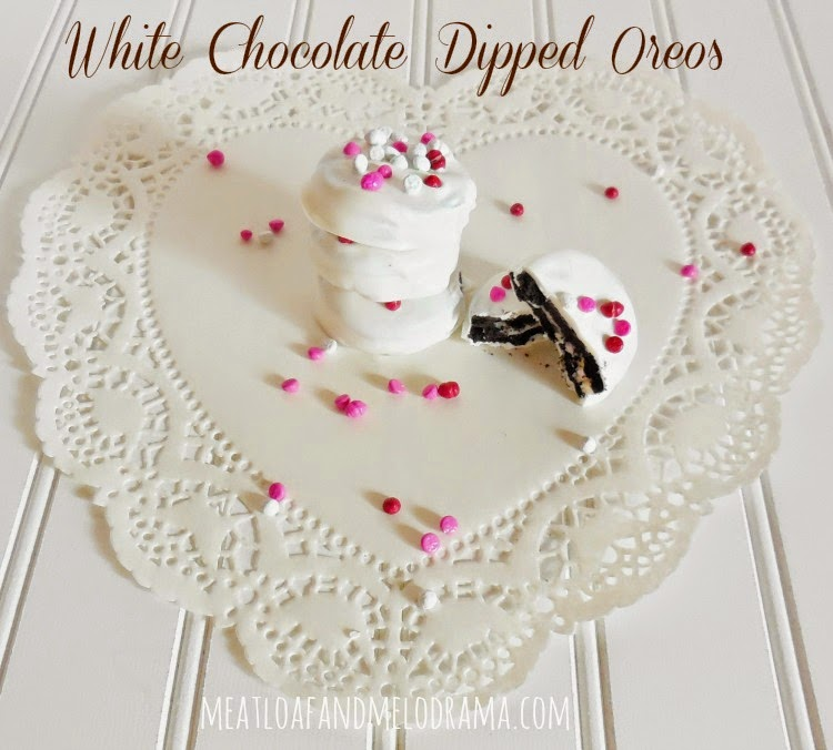white chocolate covered oreos on valentines day