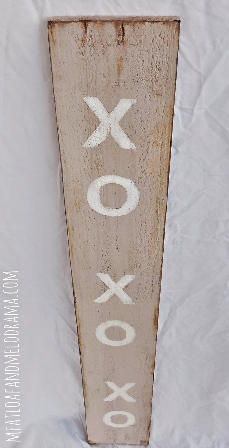 rustic shabby chic wood xo xo sign for valentine's day painted with annie sloan chalk paint
