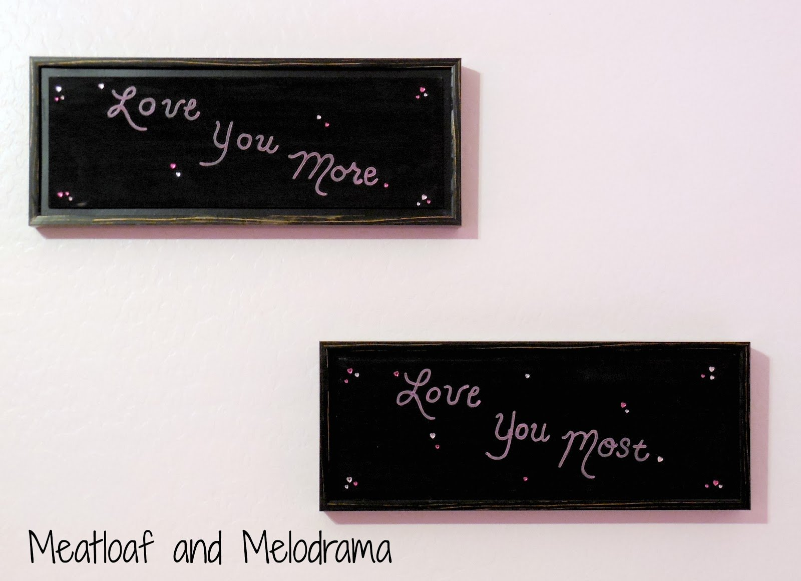 DIY love you signs
