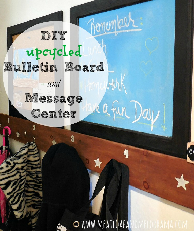 chalkboard and bulletin board made from old cabinet doors