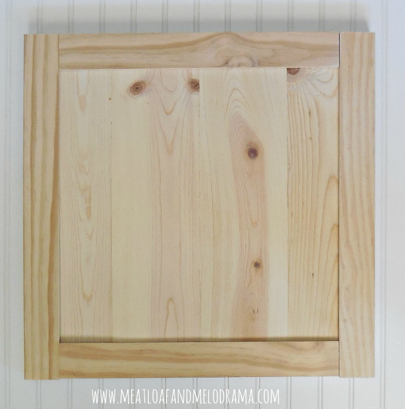 Diy Kitchen Cabinet Door Framed With Smaller Pine Boards