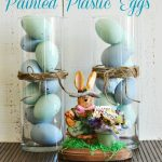 Painted Plastic Easter Eggs