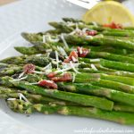 Sauteed Asparagus with Bacon, Lemon and Parmesan