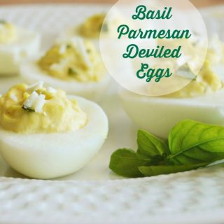 Basil Parmesan Deviled Eggs