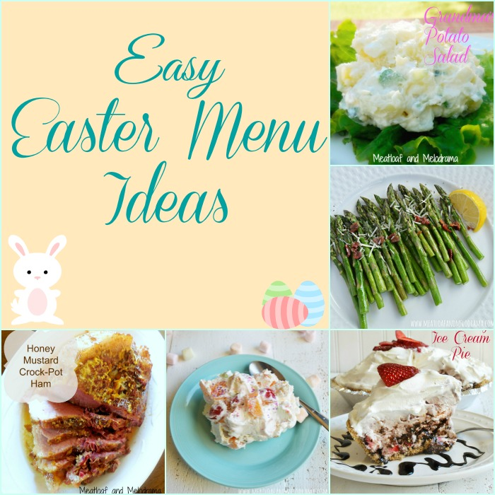 a collage of Easter meal ideas