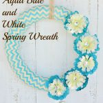 Aqua Blue and White Spring Wreath