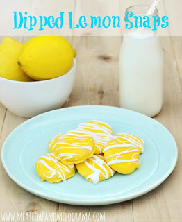 dipped lemon snap cookies for summer