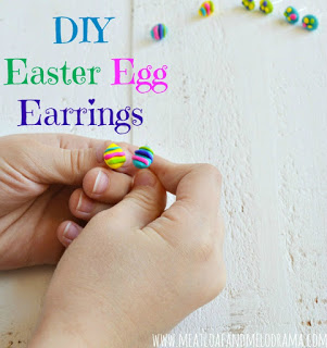 Easter egg earrings made from polymer clay