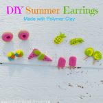 DIY Summer Earrings made with Polymer Clay
